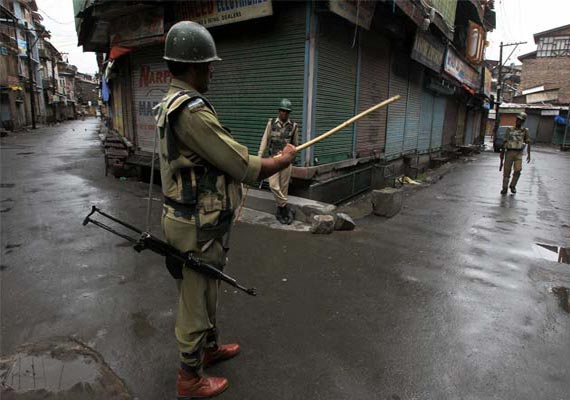 curfew in j k town after injured woman dies