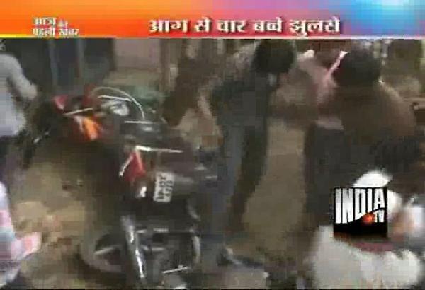four kids get burns after old petrol tanker explodes in