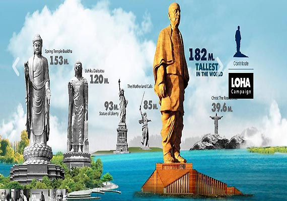 gujarat to have world s tallest statue dedicated to sardar