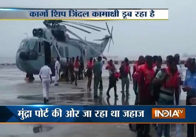 indian navy rescues 20 crew members of drifting merchant