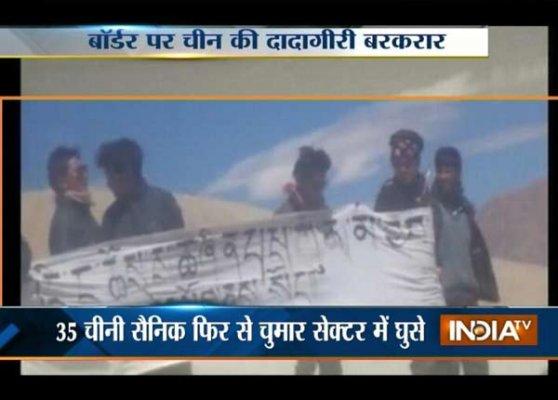 chinese troops return to ladakh s chumar region