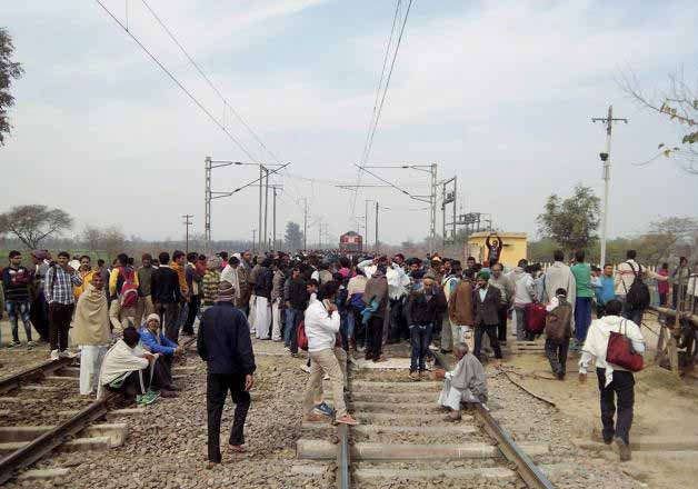 jats continue stir in haryana road rail traffic disrupted
