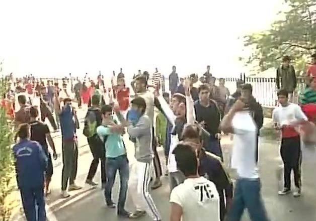 clashes mar first ever international marathon in valley