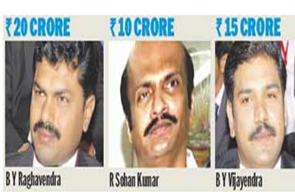 fearing yeddy s exit his sons son in law withdrew rs 45 cr