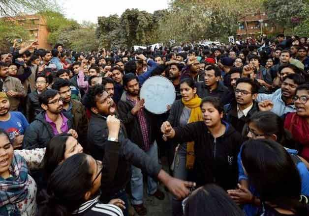 jnu row historians artistes say police action should not