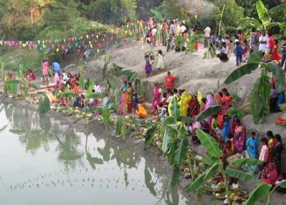 pm narendra modi greets people on chhath puja