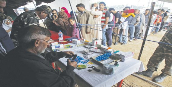 kashmir flood additional medical supplies of 33.9 metric