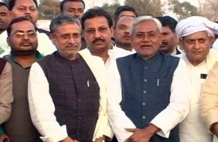 nitish takes guard for second innings has task cut out