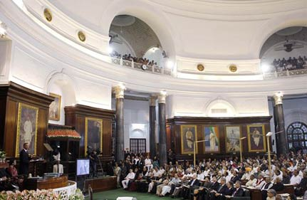 obama s bahut dhanyawad remarks floor mps constant applause