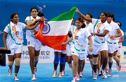 indian women win asiad kabaddi gold