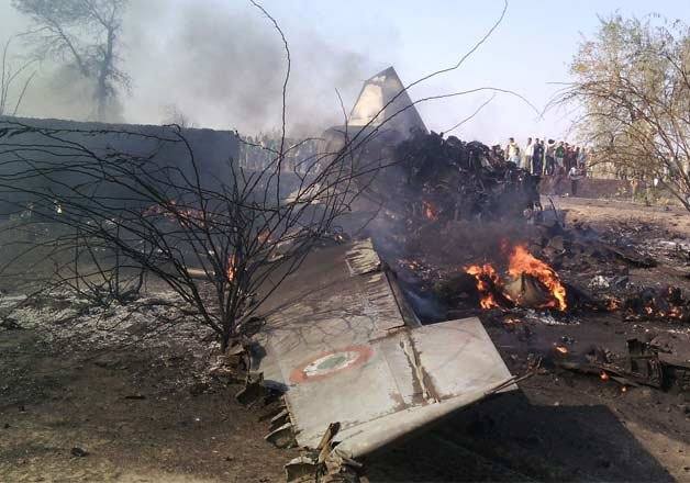 mig 27 aircraft of iaf crashes in raj pilot ejects safely