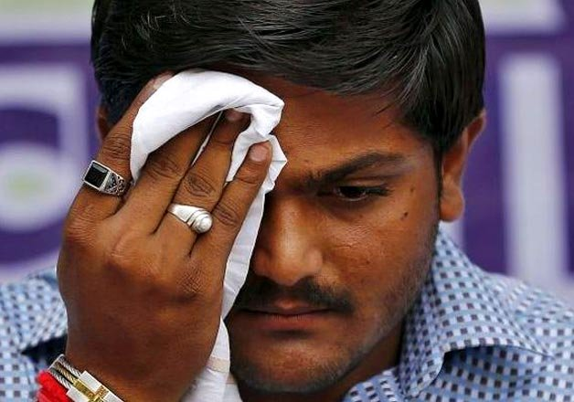 hardik patel sent to hospital after being on a hunger