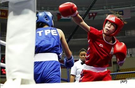 asiad mary kom kavita in women s boxing semis