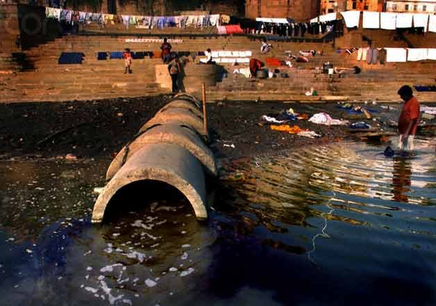 two thirds of sewage from towns flows into ganga