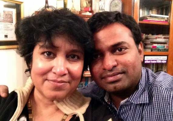 taslima nasreen tweets her photo with 20 year younger