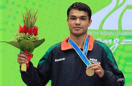 vikas ends boxing gold drought in asiad dinesh gets silver