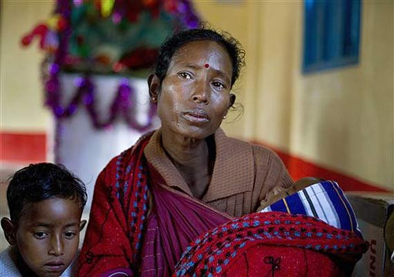over 7000 people including pregnant women displaced by