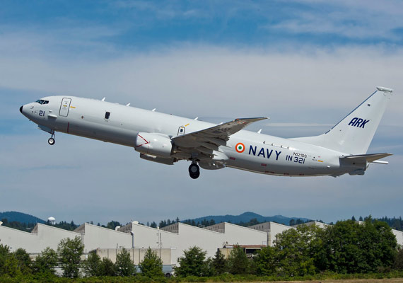 indian navy inducts boeing p 8i surveillance aircraft for