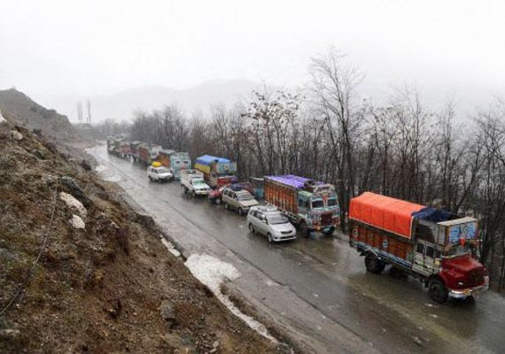 jammu srinagar highway closed due to landslides