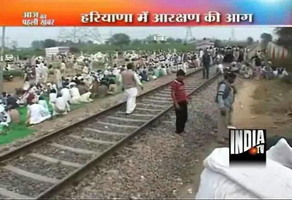 jat protesters block rail traffic in haryana