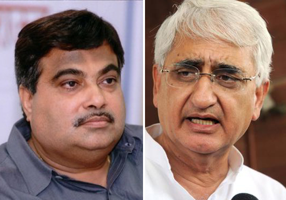 khurshid law minister or lawless minister asks gadkari