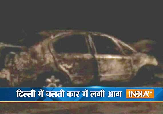 man perishes after maruti sx4 car catches fire in delhi