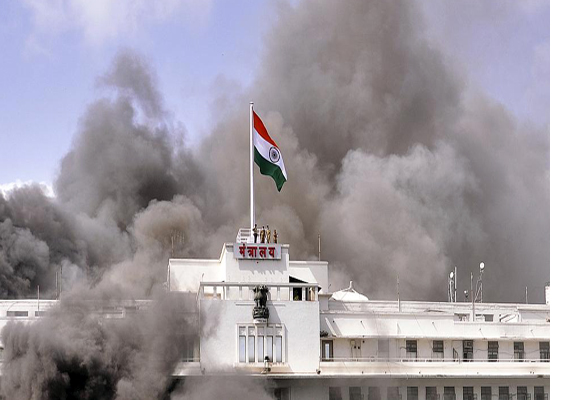 mantralaya fire sixteen cctv footages partially damaged
