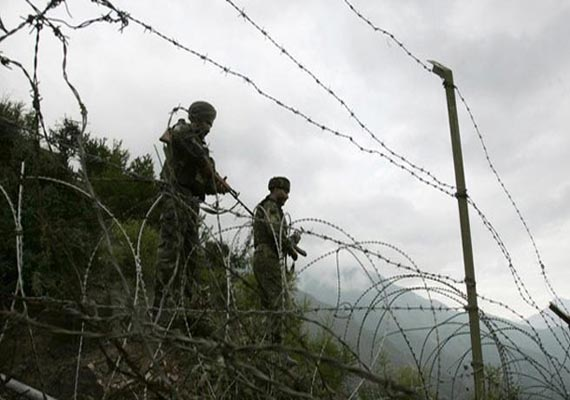 pak troops fire twice near loc on poonch kathua one bsf