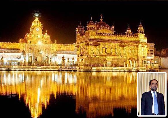 pak interior secy visits golden temple