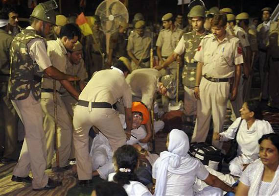 Police brutality on Baba Ramdev