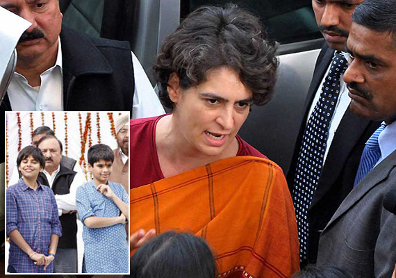 priyanka says she brought children to amethi so that they
