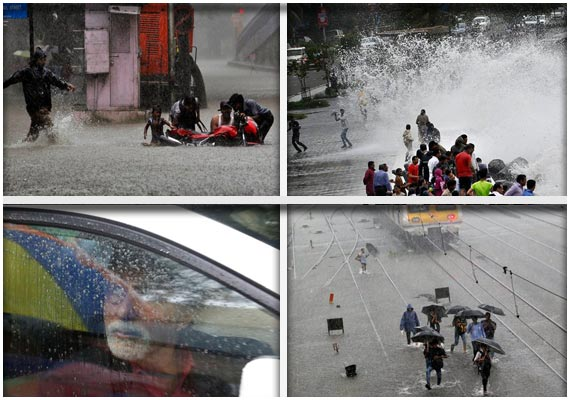 rain derails mumbai watch in pics