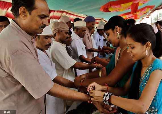 Raksha Bandhan celebrated with great enthusiasm | India News
