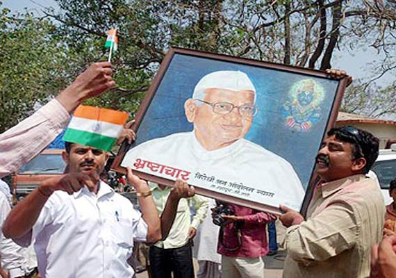 ralegan siddhi villagers join hazare fast