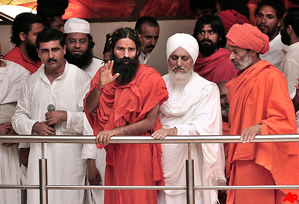 ramdev ends vow of silence to hold yoga camp in haridwar