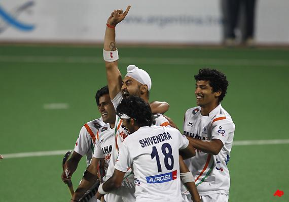 sandeep powers india to london olympics in men s hockey