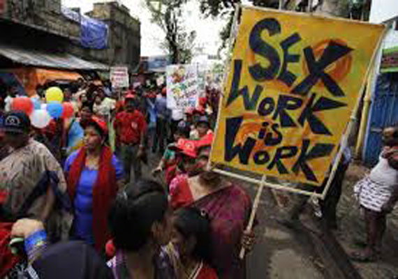 sex workers protest against sexual violence on v day
