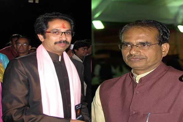 Image result for shivraj singh chouhan uddhav thackeray