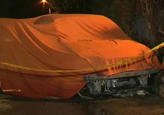 two brothers killed as car catches fire in delhi