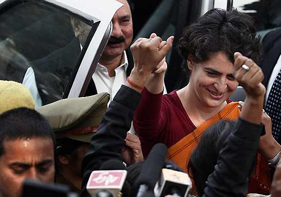 wind in favour of congress claims priyanka