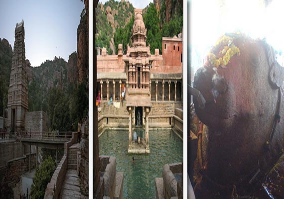 yaganti where idol of nandi has been increasing in size