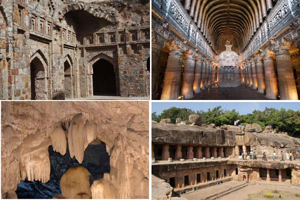 7 amazing rock cut caves in india