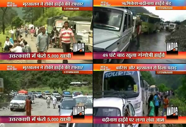 5 000 tourists trapped near uttarkashi due to landslide