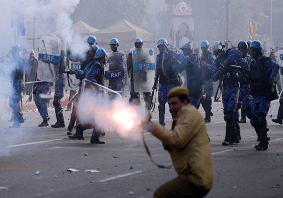 30 people injured in assam police firing