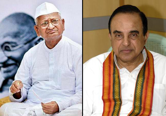 anna must cut ties with naxals in his team subramanian swamy