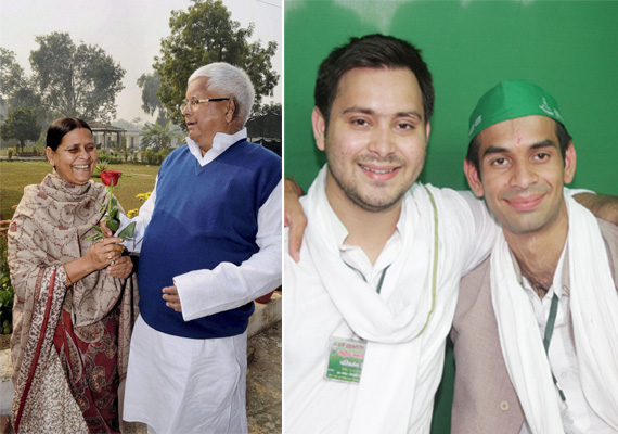 at a glance lalu yadav s two sons tejaswi and tej pratap