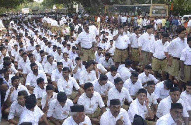 delhi polls rss mobilises cadre to ensure bjp s victory