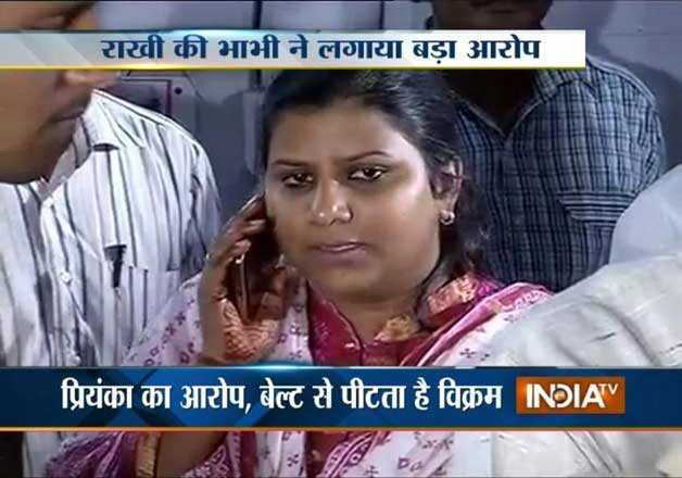 aap mla rakhi bidlan s brother accused of domestic violence