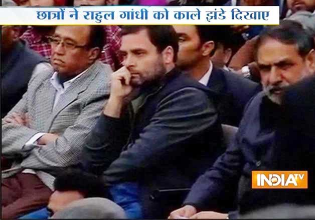 anti nationals suppressing voice of students rahul gandhi
