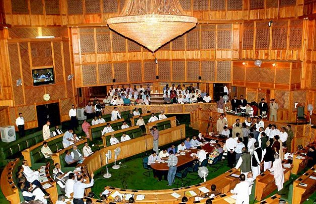 jk assembly bjp mla triggers controversy at swearing in